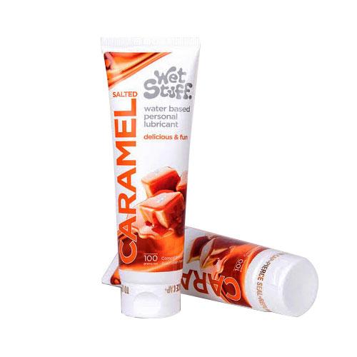 Gel bôi trơn Caramel vị mặn nếm được dùng cho quan hệ miệng oral