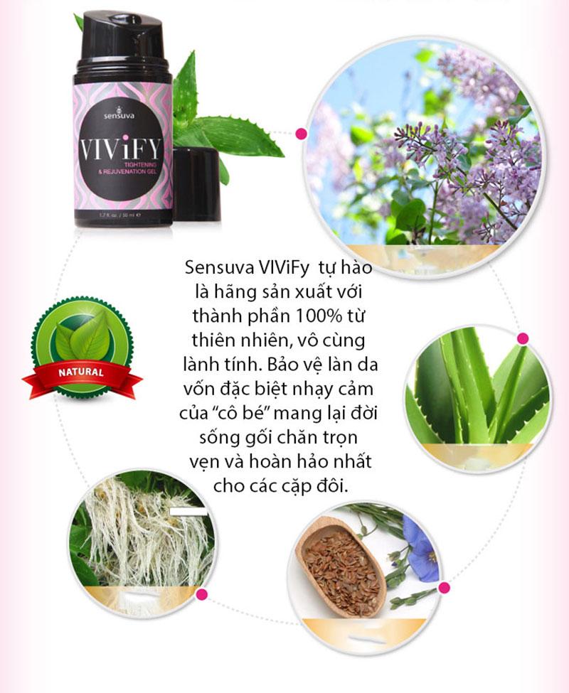 Kem se khít âm đạo và tăng khoái cảm cho phụ nữ nhập khẩu từ Mỹ - Sensuva ViviFi