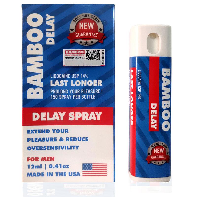 Xịt Chống Xuất Tinh Sớm, Kéo Dài Quan Hệ BamBoo Delay Spray Chai 12ml