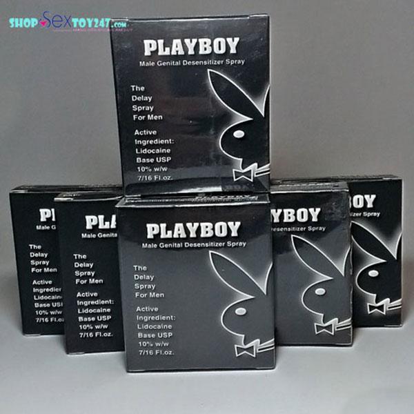 Thuốc xịt lâu ra Playboy đen